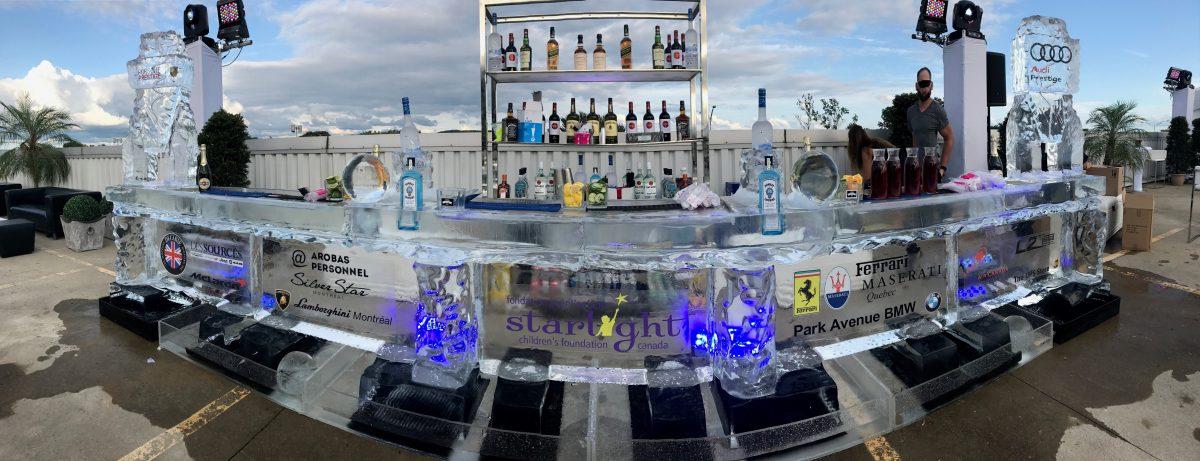 Bar de glace géant