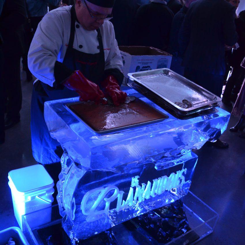 Mini bar de glace avec logo gravé
